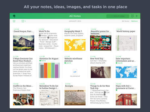 top iPad apps for it professionals Evernote