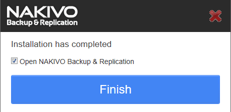 nakivo-nas-installation-completed
