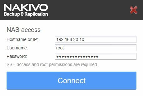 nakivo-synology-installation-login