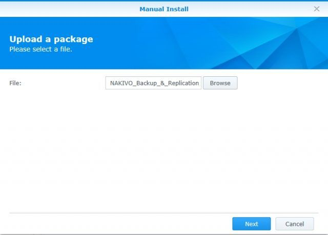 install-nakivo-synology-package-center-select-installation-file