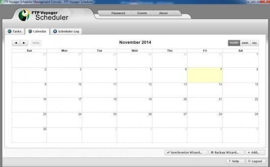 FTP voyager calendar
