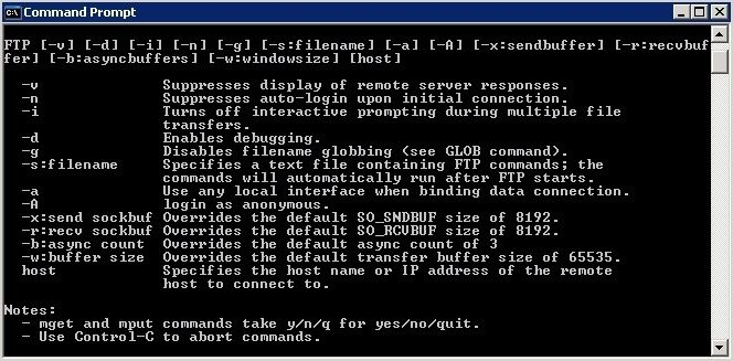 how to download files from ftp server using batch file