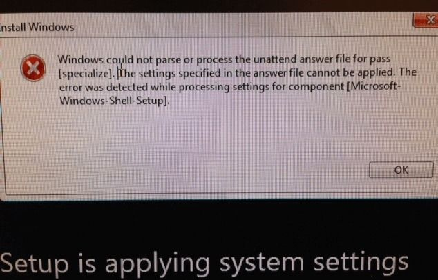 Oobe Windows 10 Error