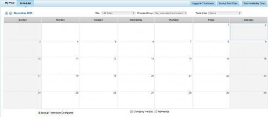 ManageEngine-SDP-calendar