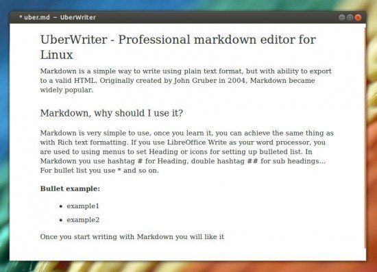 UberWriter Professional markdown editor for Linux - ITSMDaily com