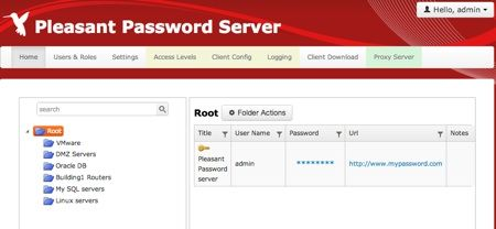 Pleasant Password Server review webclient