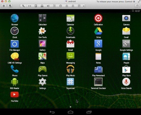 android-running-on-osx-fusion