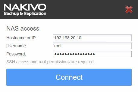 nakivo-synology-installation-login