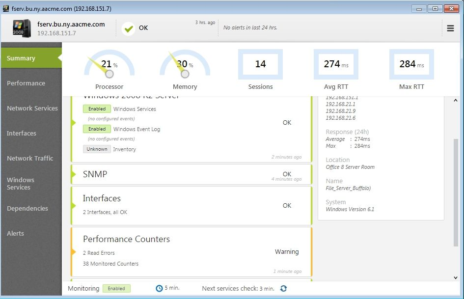 netcrunch-port-windows-server