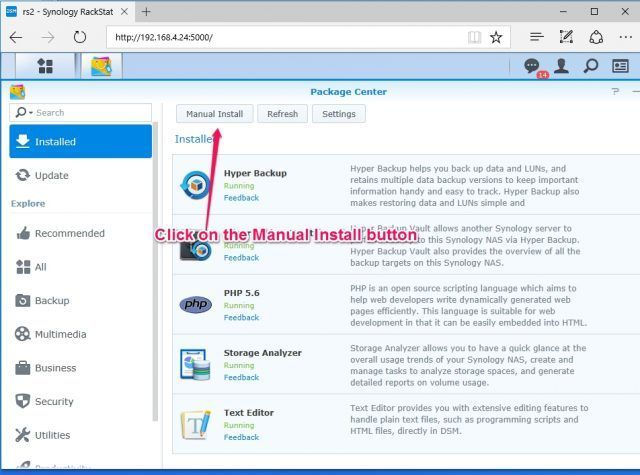 install-nakivo-synology-package-center-manual-install