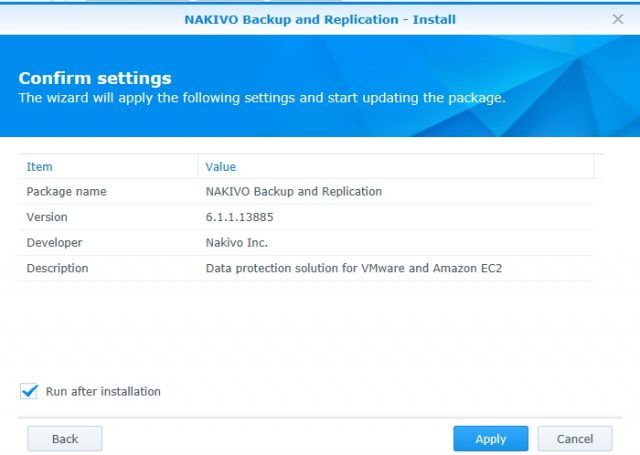 install-nakivo-synology-package-center-run-after-install