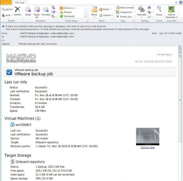 How to add screenshot verification to Nakivo Backup job