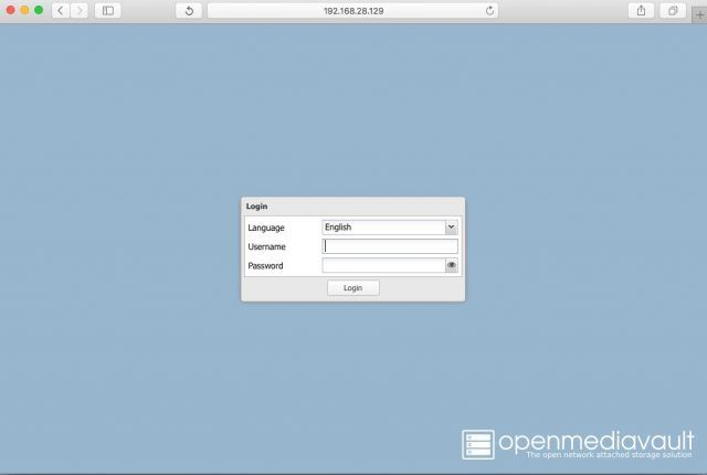 openmediavault-login