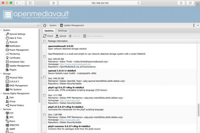 openmediavault-updates