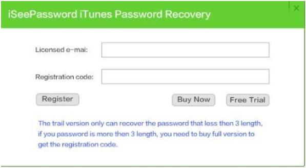iseepassword itunes registration code